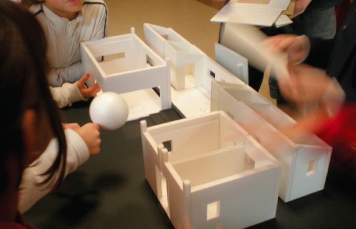 Maquette d'une maison bioclimatique