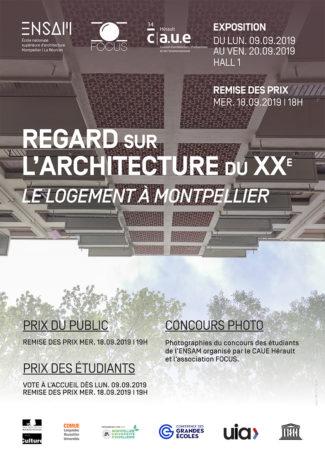 Affiche expo EnsaM Regard sur l'architecture du 20e siècle