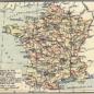 Carte de la France en 1791 (départements et anciennes provinces - en rouge) in The Historical Atlas by William R. Shepherd, 1926
